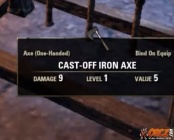 Cast-Off Iron Axe