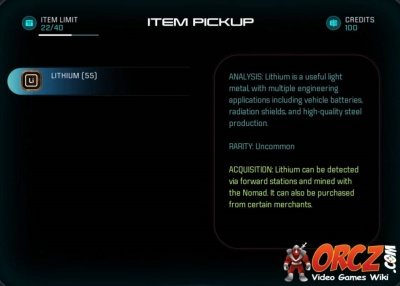 Mass Effect Andromeda: Lithium - Orcz com, The Video Games Wiki