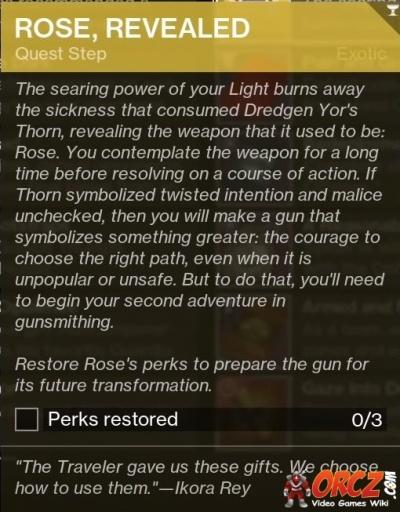 Destiny 2: Rose, Revealed - Purifying Thorn - Orcz com, The Video