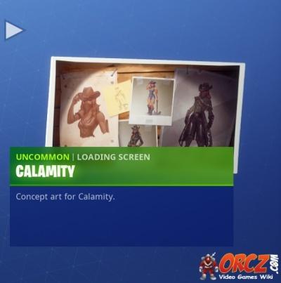 the calamity loading screen in fortnite br - fortnite calamity art