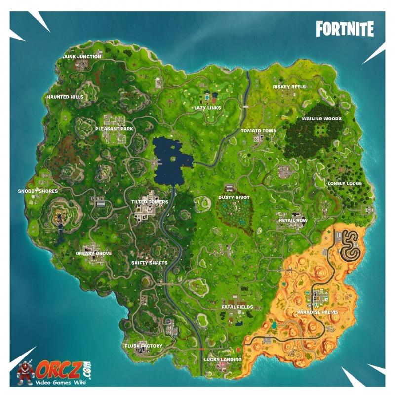Dramatic image for printable fortnite map