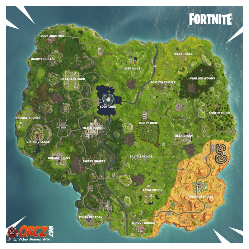 Lively image with printable fortnite map