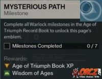 destiny: age of triumph record book - orcz, the video games wiki