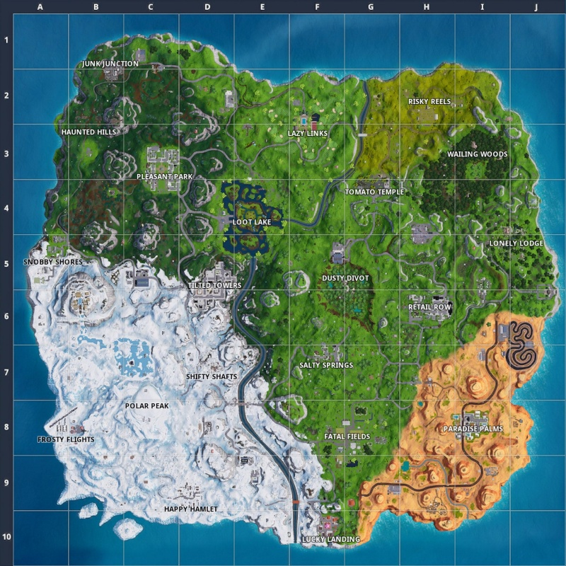 Unusual image for printable fortnite map