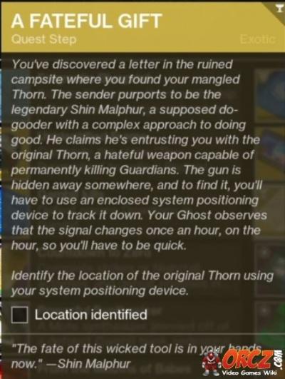 Destiny 2: A Fateful Gift - Purifying Thorn - Orcz com, The