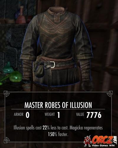 skyrim  master robes of illusion