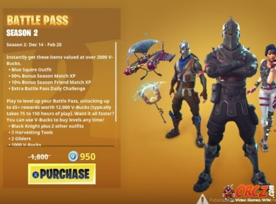 fortnite battle royale season 2 battle pass orcz com the video games wiki - fortnite premium