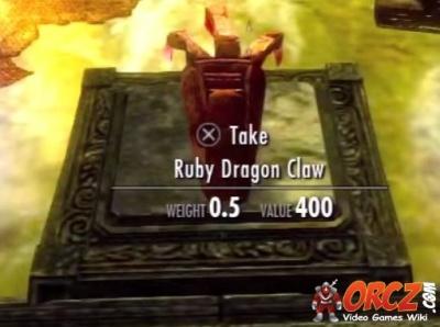 Skyrim Ruby Dragon Claw Orcz Com The Video Games Wiki