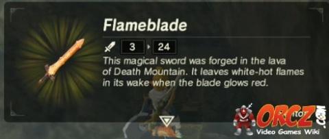 Breath Of The Wild Flameblade Orcz Com The Video Games
