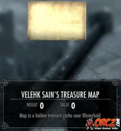 Skyrim: Velehk Sain\'s Treasure Map - Orcz.com, The Video ...
