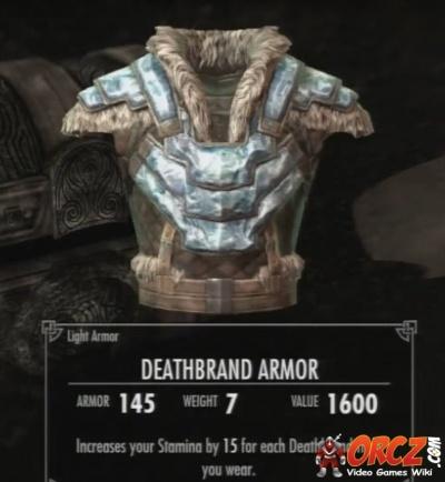 Skyrim Dragonborn Deathbrand Armor Orczcom The Video Games Wiki