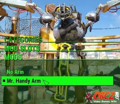 fallout 4 mr handy arm the video games wiki. Black Bedroom Furniture Sets. Home Design Ideas