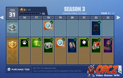 Fortnite Battle Royale: Season 3 Battle Pass Rewards - Orcz