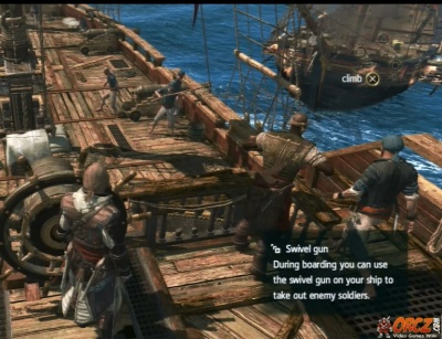 assassins creed iv use a swivel to kill sailors orczcom the video games wiki