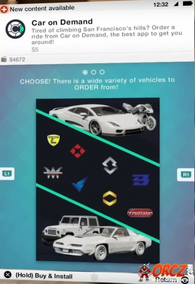 Cost To Paint A Car >> Watch Dogs 2: Car on Demand - Orcz.com, The Video Games Wiki