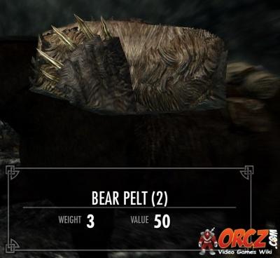 skyrim bear pelt id