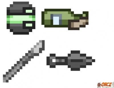 Kunai and shuriken
