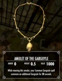 Skyrim: Amulet of the Gargoyle - Orcz com, The Video Games Wiki