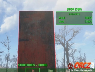 Door (Wood) in Fallout 4. & Fallout 4: Wooden Door - Orcz.com The Video Games Wiki