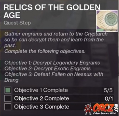 Destiny 2 Relics Of The Golden Age