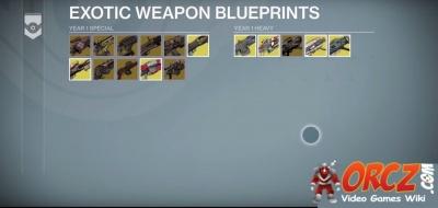 Destiny exotic weapon blueprints orcz the video games wiki exotic armor blueprints malvernweather Images