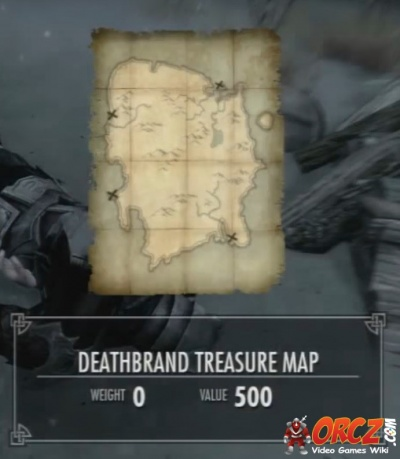 Skyrim Dragonborn Use The Deathbrand Treasure Map To Find The