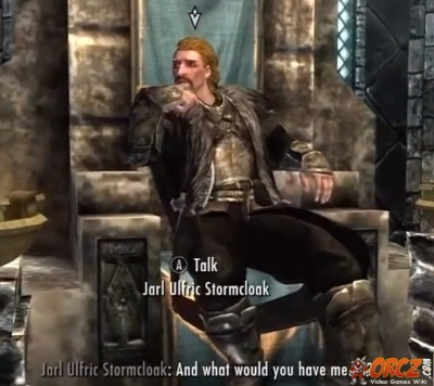 SkyrimUlfric Stromcloak in Windhelm.jpg