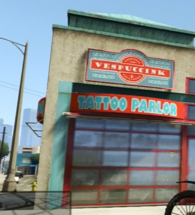 Gta v vespuccink tattoo parlor the video for Tattoo shop games