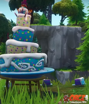Fortnite Battle Royale Birthday Cake