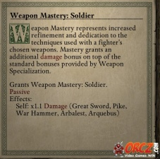 Weapon Mastery Soldier