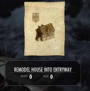 Skyrim Remodel House Into Entryway