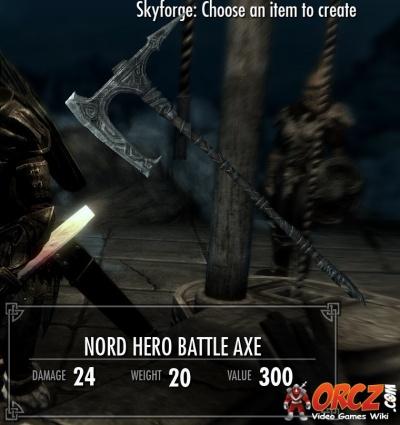 Skyrim nord hero battleaxe orcz com the video games wiki