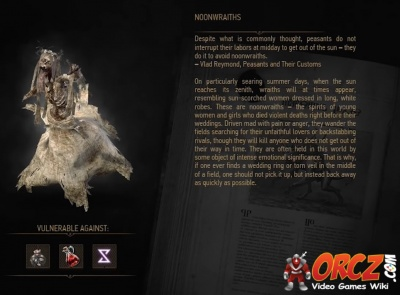 Witcher 3: Read noonwraiths entry in Bestiary - Orcz com
