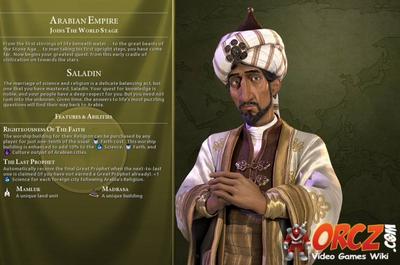 Civilization VI: Saladin - Orcz com, The Video Games Wiki