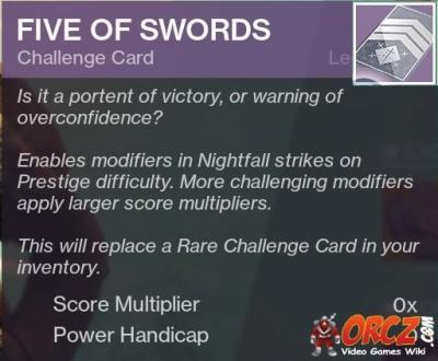 Destiny 2: Five of Swords - Orcz com, The Video Games Wiki