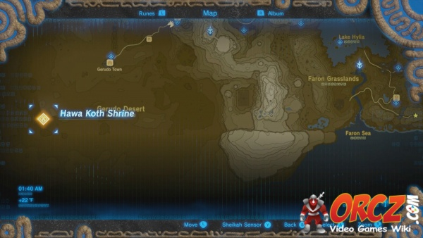 Zelda Botw Shrine Map >> Breath of the Wild: Hawa Koth Shrine - Orcz.com, The Video Games Wiki