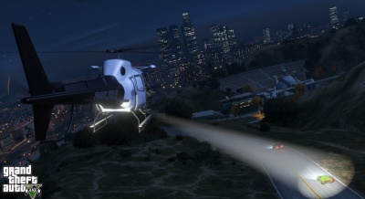 GTA V: Police Helicopter Spotlight - Orcz com, The Video