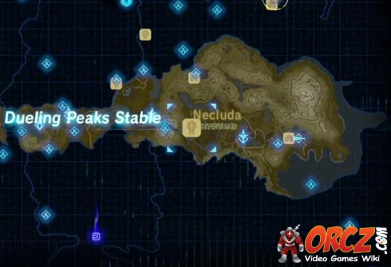 Misko The Great Bandit Zelda >> Breath of the Wild: Map - Dueling Peaks Stable - Orcz.com ...