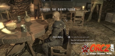 skyrim how to get to the dainty sload