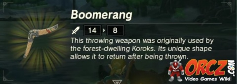 Breath of the Wild: Boomerang - Orcz com, The Video Games Wiki