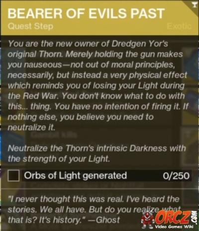 Destiny 2: Bearer of Evils Past - Purifying Thorn - Orcz com