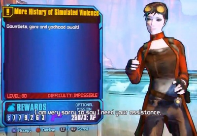 Borderlands 2: More History of Simulated Violence OP 8