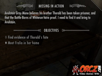 Skyrim Quest: Missing in Action - Orcz com, The Video Games Wiki