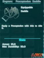 Engram: Procoptodon Saddle