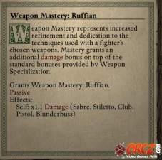 Weapon Mastery Ruffian