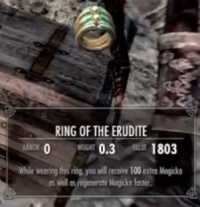 Skyrim: Ring of the Erudite - Orcz com, The Video Games Wiki