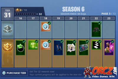 Fortnite Battle Royale Season 6 Battle Pass Rewards Orcz Com The