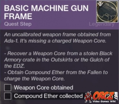 destiny 2 machine gun frame quest