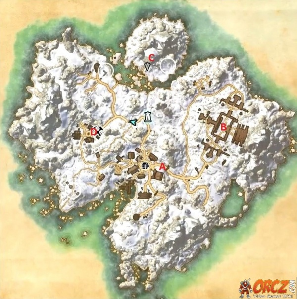 ESO Bleakrock Isle Map Orcz The Video Games Wiki