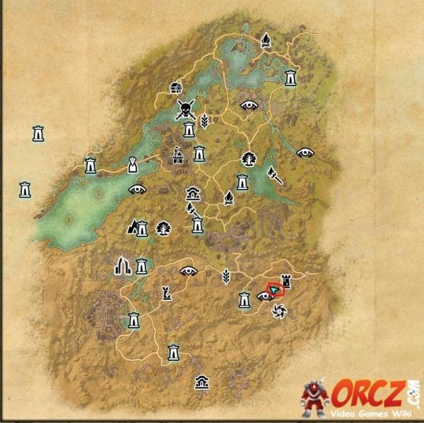ESO Bangkorai Treasure Map VI Orcz The Video Games Wiki